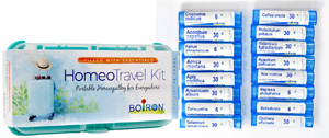 Homeo Travel Kit features the most recommended homeopathic medicines for travel.