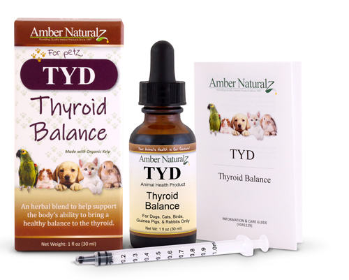 TYD is a natural product for pet thyroid gland health
